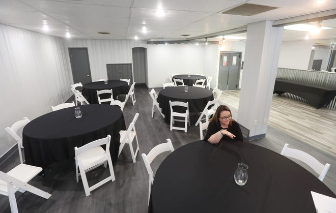 Misty Meredith talks about transforming the former Nicol's Restaurant at 730 Putnam Ave. into an event hall called The Banquet Room. Meredith and her husband Steve — known as Chef Steve, The Professional Caterer — hope to provide an affordable place for events hosting up to 75 people.