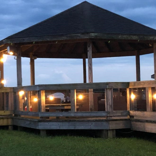 Visitors can spend the night under the stars at The Wilds attraction, WildNights at the Outpost. Campers can hang out by the campfire with members of their own household.