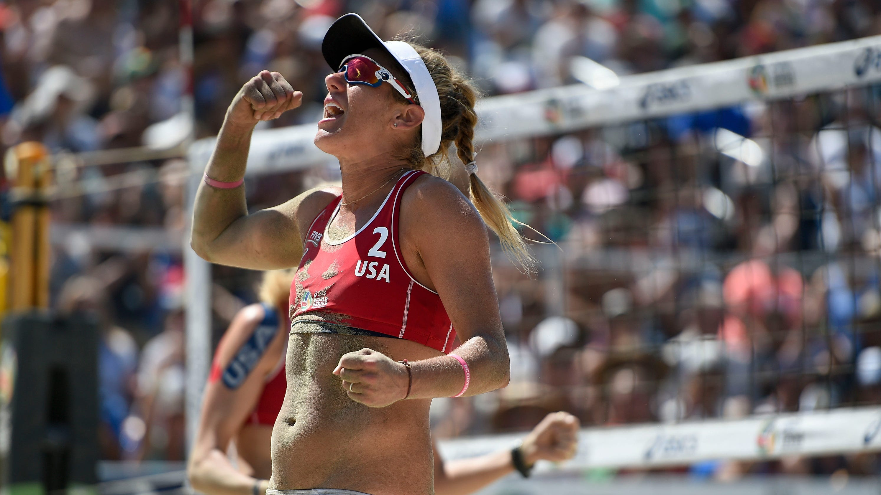 Beach volleyball star April Ross draws strength from mother's cancer battle in quest for Olympic gold