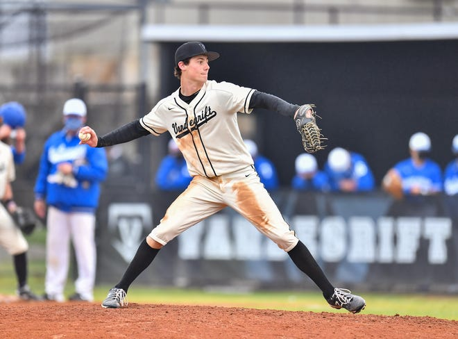 Vandegrift's Christian Okerholm threw a no-hitter in his first game when he was 9 or 10, he says. He will play next year at Georgia Tech.