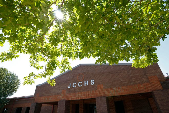 Jackson County Comprehensive High School in Jefferson, Ga., on Friday, May 7, 2021. The high school is moving into a new campus and the old location will become an Empower College & Career Center.