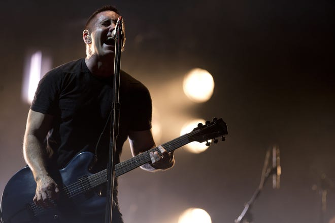 Trent Reznor of Nine Inch Nails performs in Mexico in 2014.