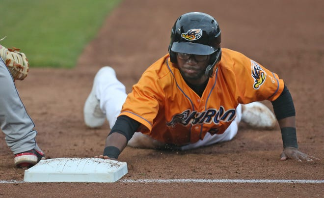Andruw Monasterio was promoted from the RubberDucks to the Triple-A Columbus Clippers but the Ducks will continue to play each game one play a time in an attempt to build on their lead in the Double-A Northeast. [Mike Cardew/Beacon Journal]