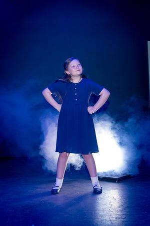 "Amarillo Little Theatre presents ""Matilda"" with Laken Derrington portraying the production's namesake, Matilda."