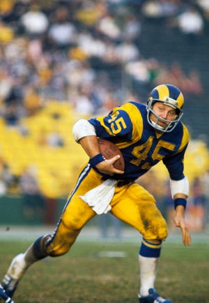 Former Texas running back Jim Bertelsen was a second-round draft pick by the Los Angeles Rams, for whom he played in 1972-76. He was selected to the Pro Bowl in 1973.