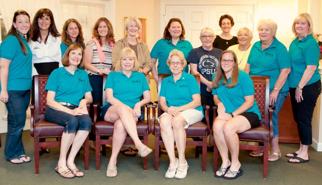 Pictured are members of Makefield Women's Association members from pre-COVID times.