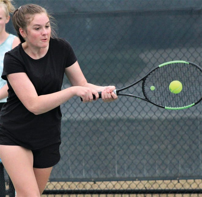 Parker Cox is one of six Bartlesville High tennis player battling at this weekend's Class 6A state tourney.