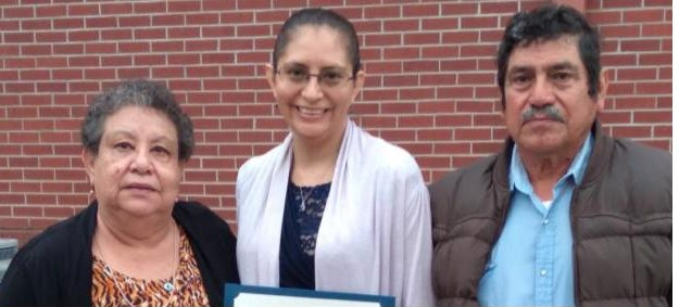 Howard Payne University senior Rosa Maria Munoz, the daughter of Juan and Rosa Elia Munoz and a Bangs High School graduate, was awarded the Brown County Retired Teachers Association Scholarship for $1,000. She is the first member of her family to attend a university.