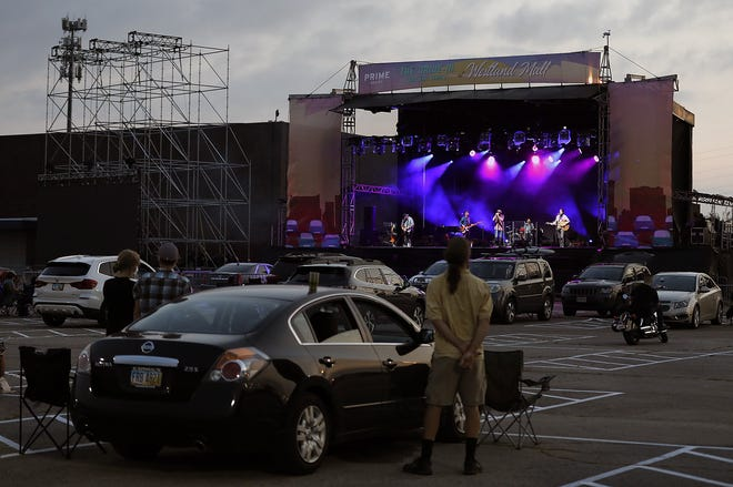 The Floorwalkers onstage during the Westland Mall Drive-in series last fall.