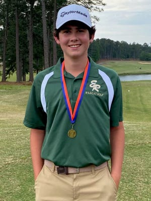 Eastern Randolph's Connor Carter will be competing for the individual 2-A golf state championship on Monday in Pinehurst. [Foster Cates for The Courier-Tribune]