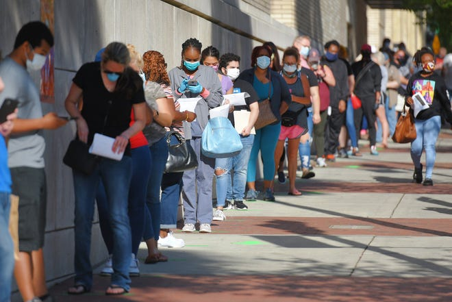 Pandemic experiences like the work losses last year that led hundreds of people to line up in downtown Jacksonville to get city-issued $1,000 debit cards can become lessons on making the region more economically resilient, a report from the Northeast Florida Regional Council is advising.