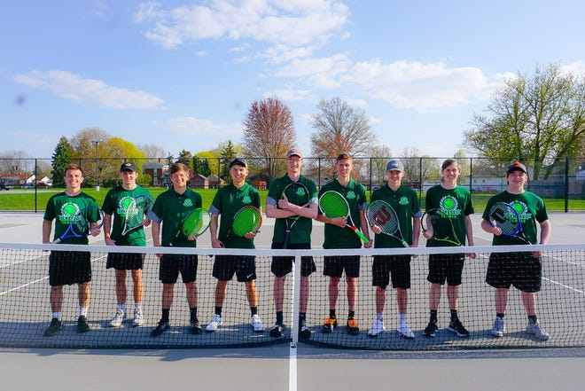 Seniors on the Geneseo Boy's Tennis Team will be recognized at Senior Night on Tuesday, May 18, at the home meet against Rock Island High School. GHS seniors who are on the tennis team are, from left, Hayden Curcuru, Tannen Rink, Thomas Robinson, Mason Miller, Erik Bergren, Mason Smith, Zach Yoder, Riley Nelson and Justin Ford.