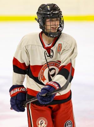 Mason Minkel had more assists than goals in each of his last three seasons with the Pekin club hockey team.