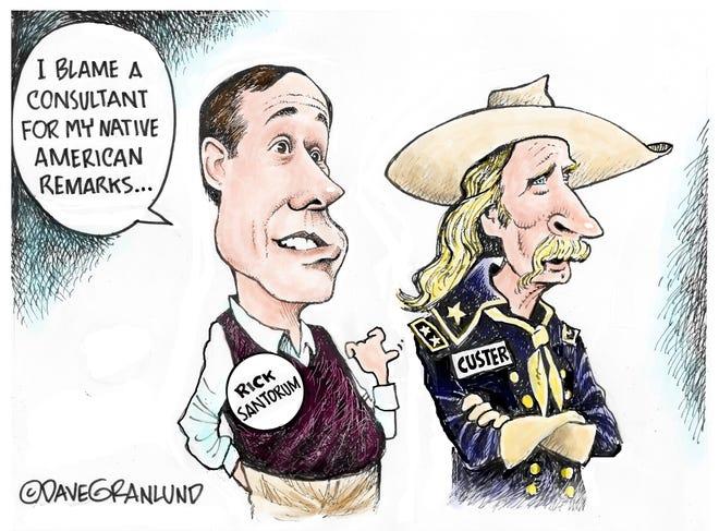 Dave Granlund cartoon on Rick Santorum remark