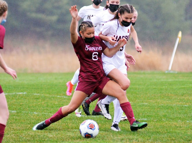 Charlevoix's Patria Muriel and the rest of the Rayders again found success against Harbor Springs, though it came a bit closer the second time.