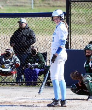 Petoskey's Brooke Bixby brought plenty of reasons to smile the batter's box, with a 4-for-4 night and two home runs.