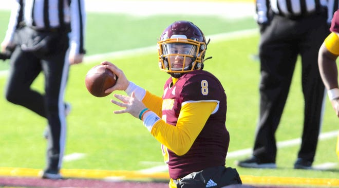 John Keller, a 2018 North Canton Hoover High graduate, is studying psychology at Central Michigan University. Keller, a quarterback, is recovering after being shot at an off-campus party on April, 24, 2021.