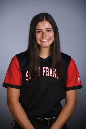 Grace Vesco, St. Francis University (Pa) softball (courtesy JD Cavrich)