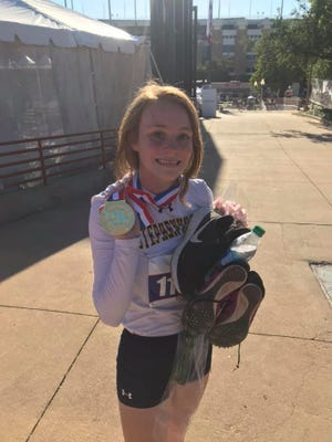 Stephenville High School's Tori Cameron won the gold medal in the 100 in the Class 4A State Track and Field meet on Thursday in Austin. Cameron also took home the silver medal in the 200.