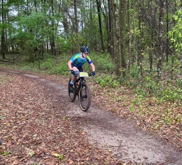 Bryce Lang, an eighth-grader at Punta Gorda Middle School, consistently placed in the top 10 in his age category throughout the season for the Tarpon Coast Composite MTB Team, a member of the Florida Interscholastic Cycling League.