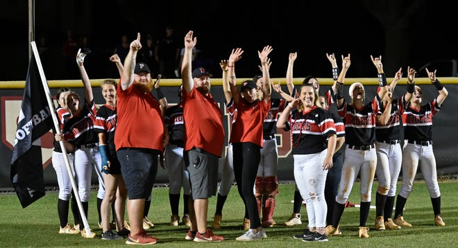 The Palmetto Tigers with a thrilling 3-2 win over visiting Charlotte High Tarpons in a Class 5A-Region 2 quarterfinal Thursday night at Blackstone Park in Palmetto.