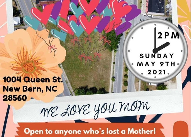 1,000 Balloons display for Mother's Day is Sunday in New Bern's Five Points community.