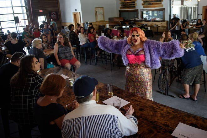 Paisley performs at the National Association of Out Professionals' Drag me to Brunch at Dirtbag Ales on July 6, 2019.