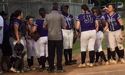 The Gainesville High softball team is ready to start Thursday's playoff game.