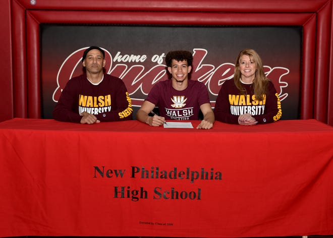 New Philadelphia's Caden Richmond signed his letter of intent to run track  and continue his education at Walsh University. Walsh is NCAA Division II and competes in the GMAC. Richmond is a standout long sprinter for the Quakers track team where he will be a four year letterman specializing in the 400. He was also a standout for the New Philadelphia football team. He is the son of Chris and Carolyn Richmond.