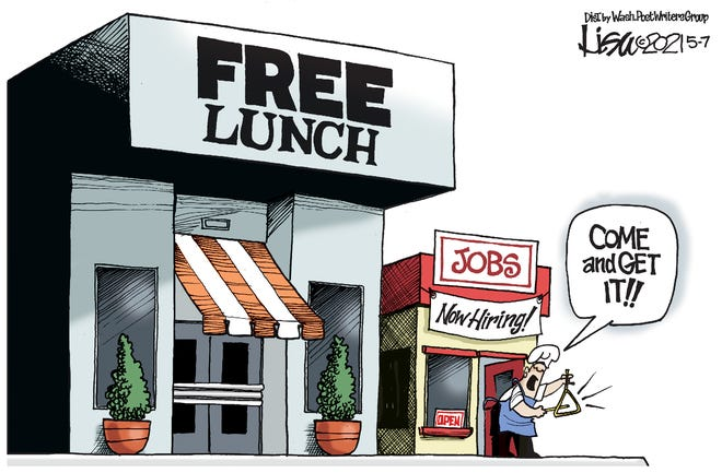 Why take a free job if there's a free lunch?