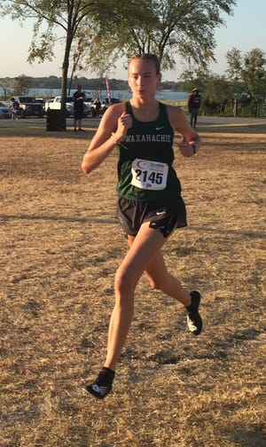 Waxahachie's Emma Curry runs to the championship at the Ken Gaston Race at the Lake Invitational in October 2019. Curry, who signed with Vanderbilt University's track and cross country teams last fall, will try to wrap up her high school athletic career with two gold medals in the 1,600-meter and 3,200-meter runs at the UIL Class 6A championships on Saturday in Austin.