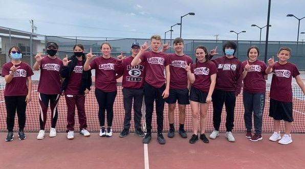 Ennis Junior High singles tournament winners from April 17.