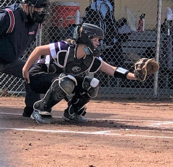 Junior Paige Ratliff plays catcher for Lakeview.