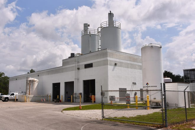 The Mims water treatment plant. The County Commission on Tuesday voted to allow Commissioner Rita Pritchett to begin remove the fluoride from the Mims water.
