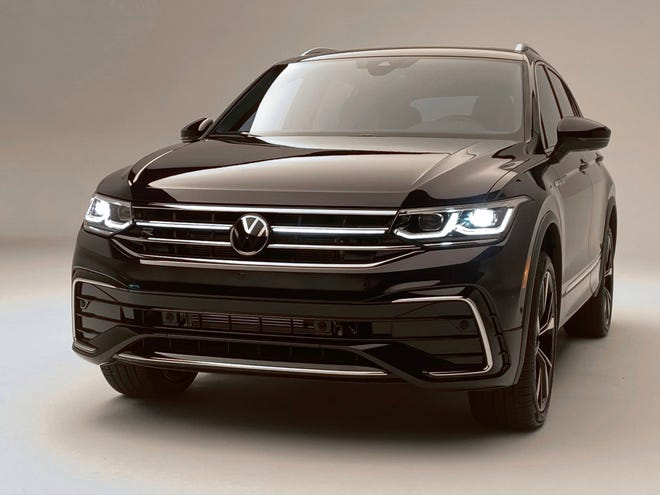 The 2022 VW Tiguan compact SUV will have new tech and styling touches when sales begin in the third quarter of 2021.