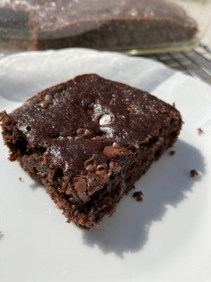 Black beans replace some of the fat in brownie recipe.