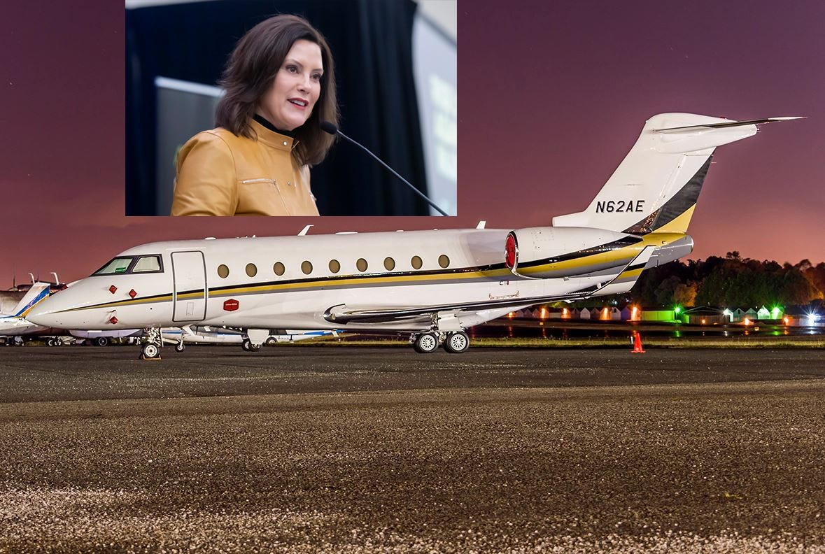 Nonprofit paid for Whitmer's chartered flight out of state