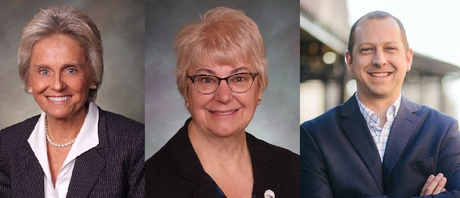 Colorado State Sen. Joann Ginal, State Rep. Cathy Kipp and State Rep. Andrew Boesenecker