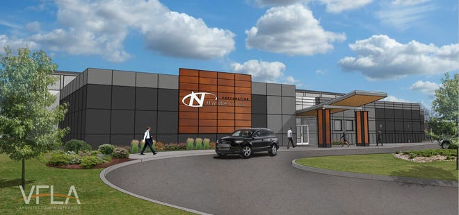 A rendering of what the exterior of the new Numerica building will look like.