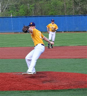 Bloom-Carroll pitcher Joshua Moore pitched five scoreless innings to help lead the Bulldogs to their 17th consecutive victory in a 6-0 non-conference win over Mount Vernon Thursday night at Beavers Field.