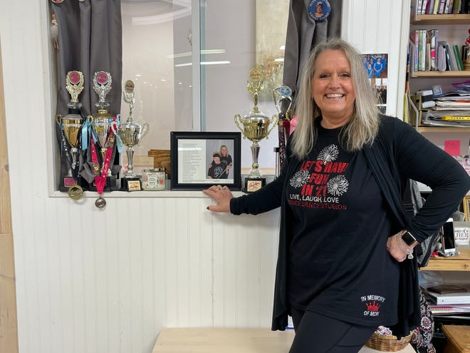 Marilyn McBride continues in her mother's footsteps through teaching dance lessons at her studio Douce Dance Studios in the Marion Centre.