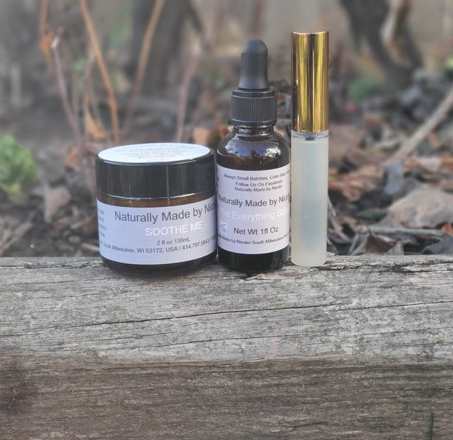 """South Milwaukee resident Nicole Kintop started """"Naturally Made by Nicole"""" to sell her all-natural skincare products including herbs, balms, creams, serums and masks, to name a few."""