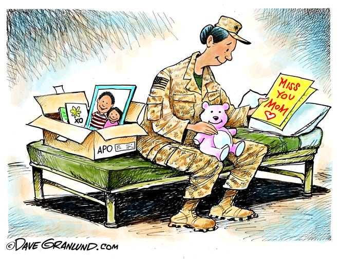 To moms deployed.