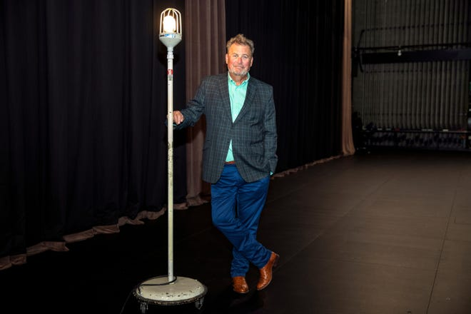 McCallum Theatre President and CEO, Jamie Grant, stands next to the ghost light backstage at the McCallum Theatre in Palm Desert, Calif., on May 6, 2021.
