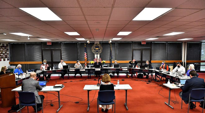 The West Shore School District Board Meeting at the West Shore School District Administration Center in Fairview Township, Thursday, May 6, 2021. Dawn J. Sagert photo