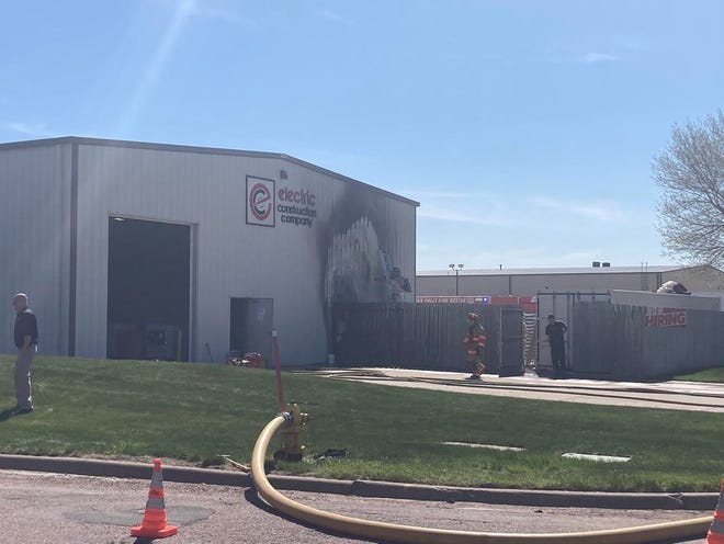 A fire was reported at Electric Construction Company in northeastern Sioux Falls on May 7, 2021.