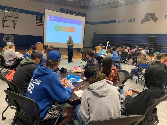 Scenes from a Youth Mental Health First Aid Training at Galena High School.