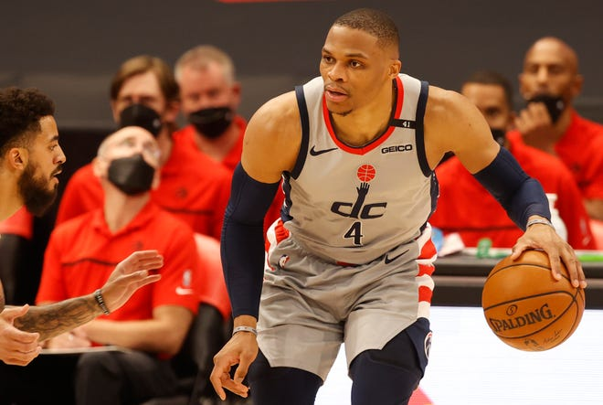 Washington Wizards guard Russell Westbrook visited Augusta Prep on Wednesday. Westbrook was in town for the NYBL Peach Jam.