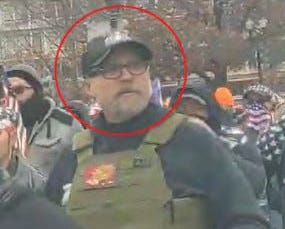 William Chrestman of Olathe, Kansas is among those charged with participating in the U.S. Capitol riot.