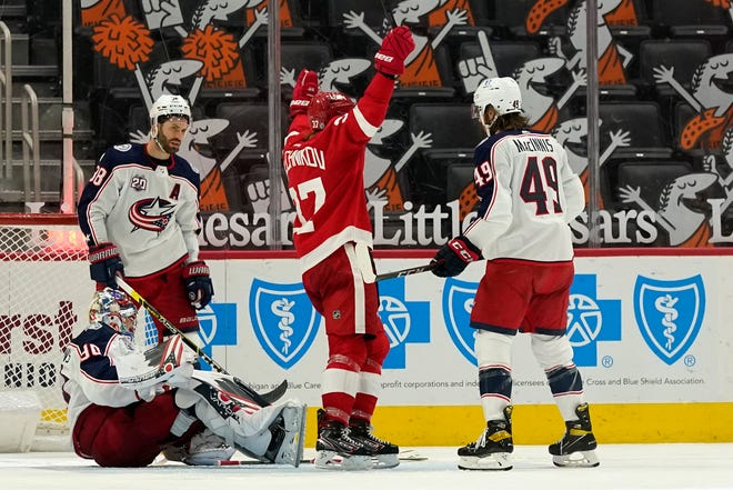 The Blue Jackets' 4-1 loss to Detroit on March 28 was part of a disastrous 2-13-3 stretch that saw Columbus sink from a tie for fourth place in the Central Division to last place entering Saturday's season finale.